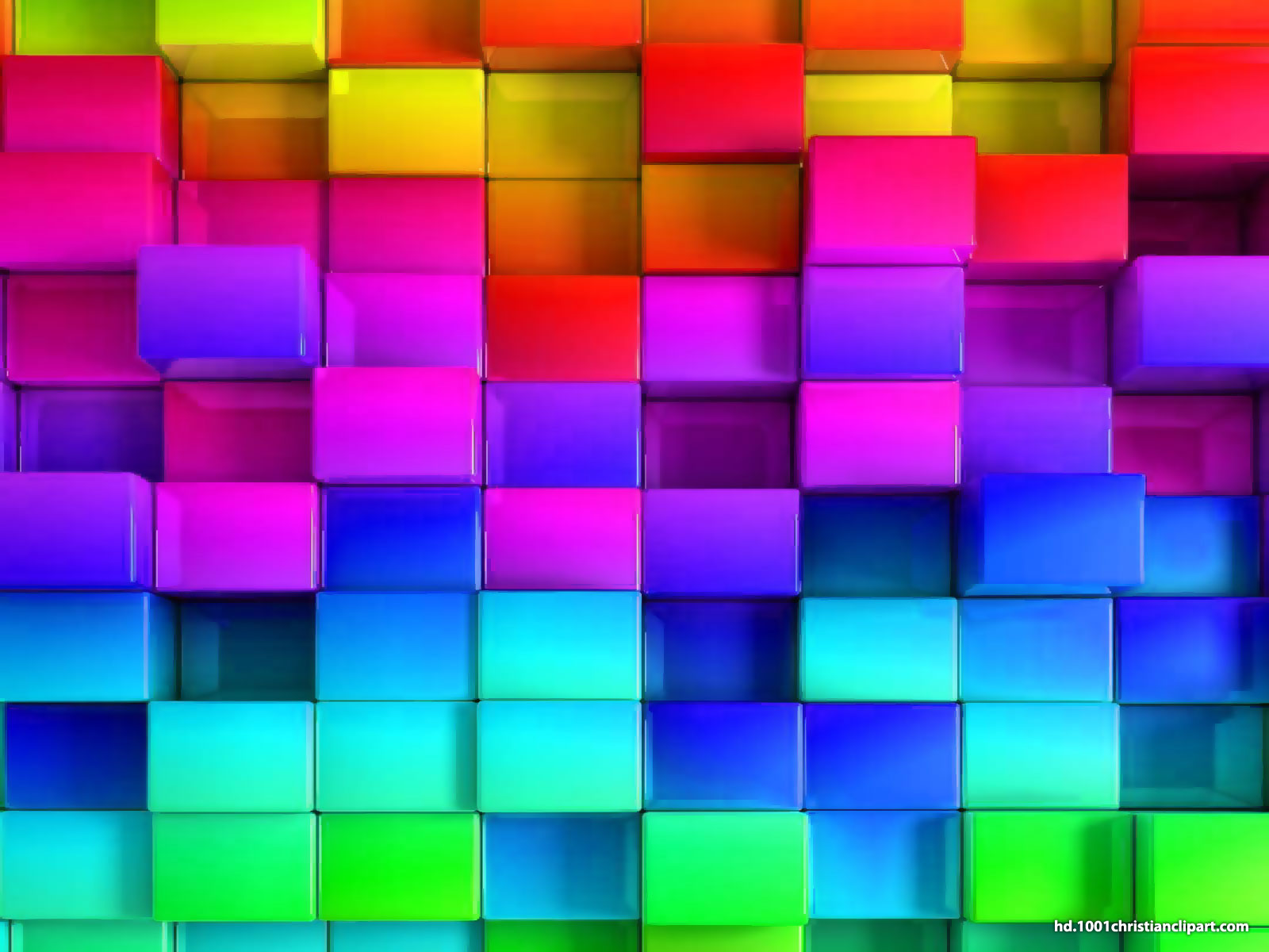 3d rainbow powerpoint template � hd slide backgrounds