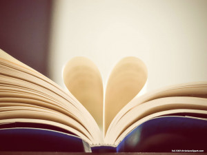 Vintage Heart Book Presentation Background