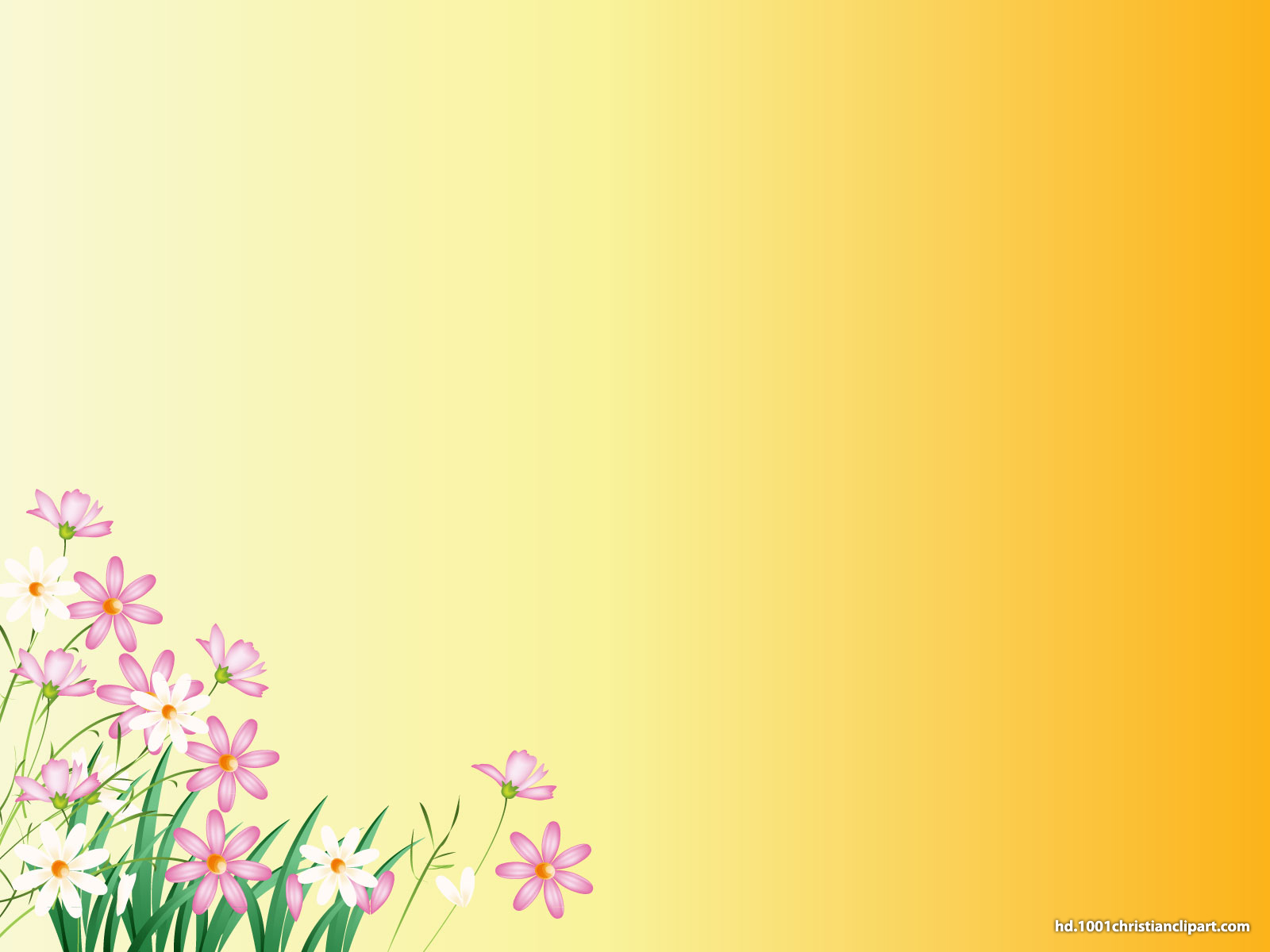 Flower Yellow Background