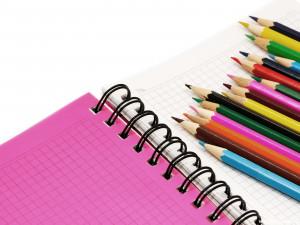 coloring pencils school background