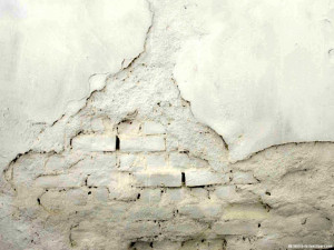 HDR Cracked White Wall Background