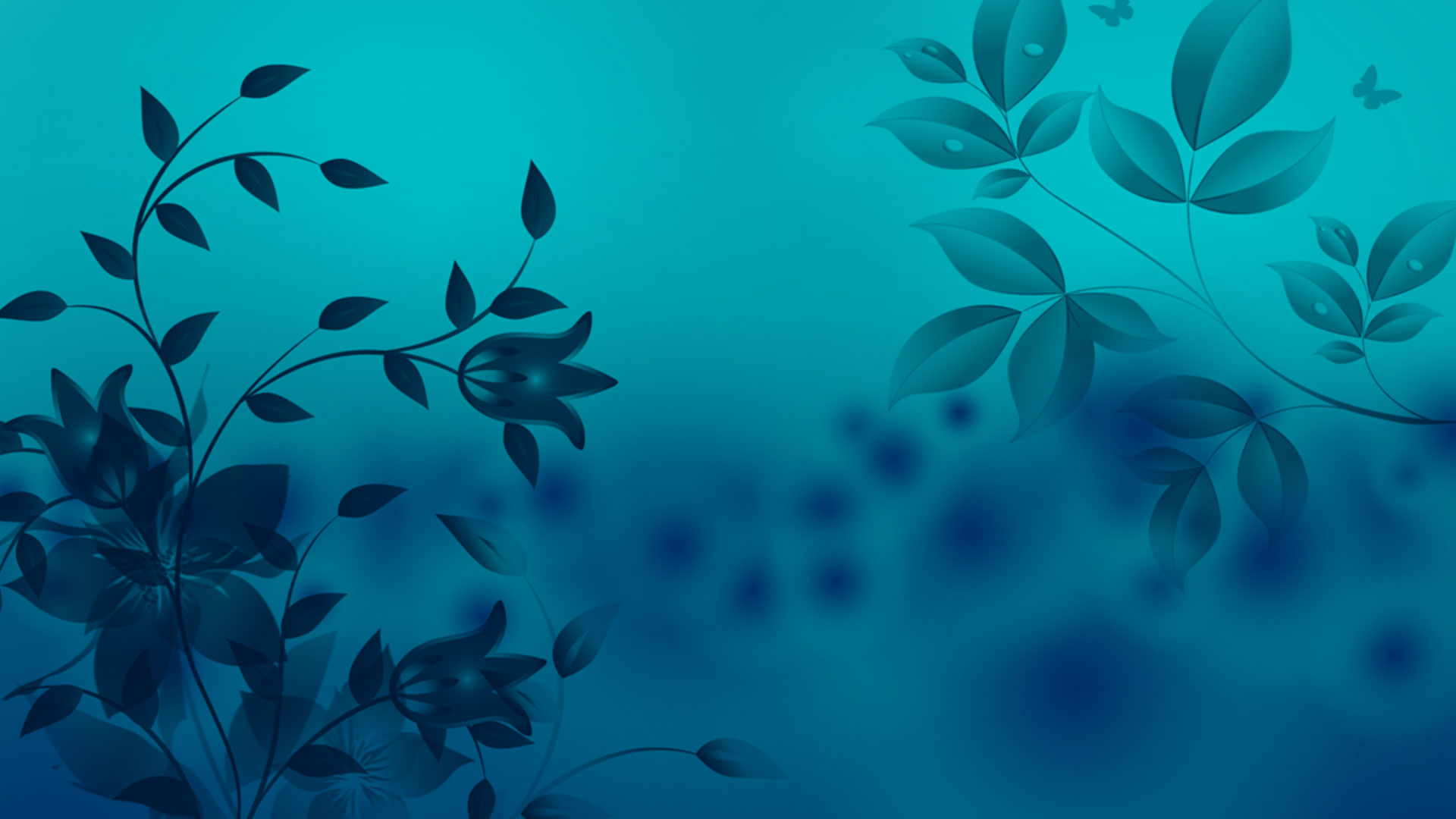 mistique blue flower background
