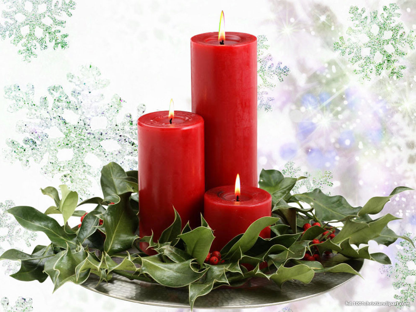 Christmas Candles Background