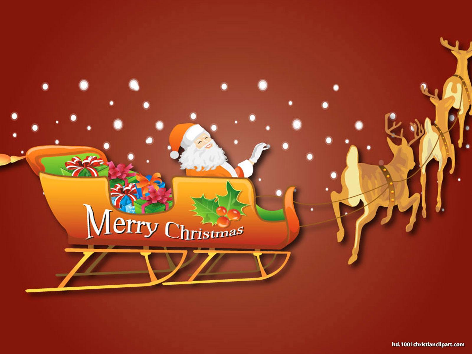Santa Claus Christmas Background