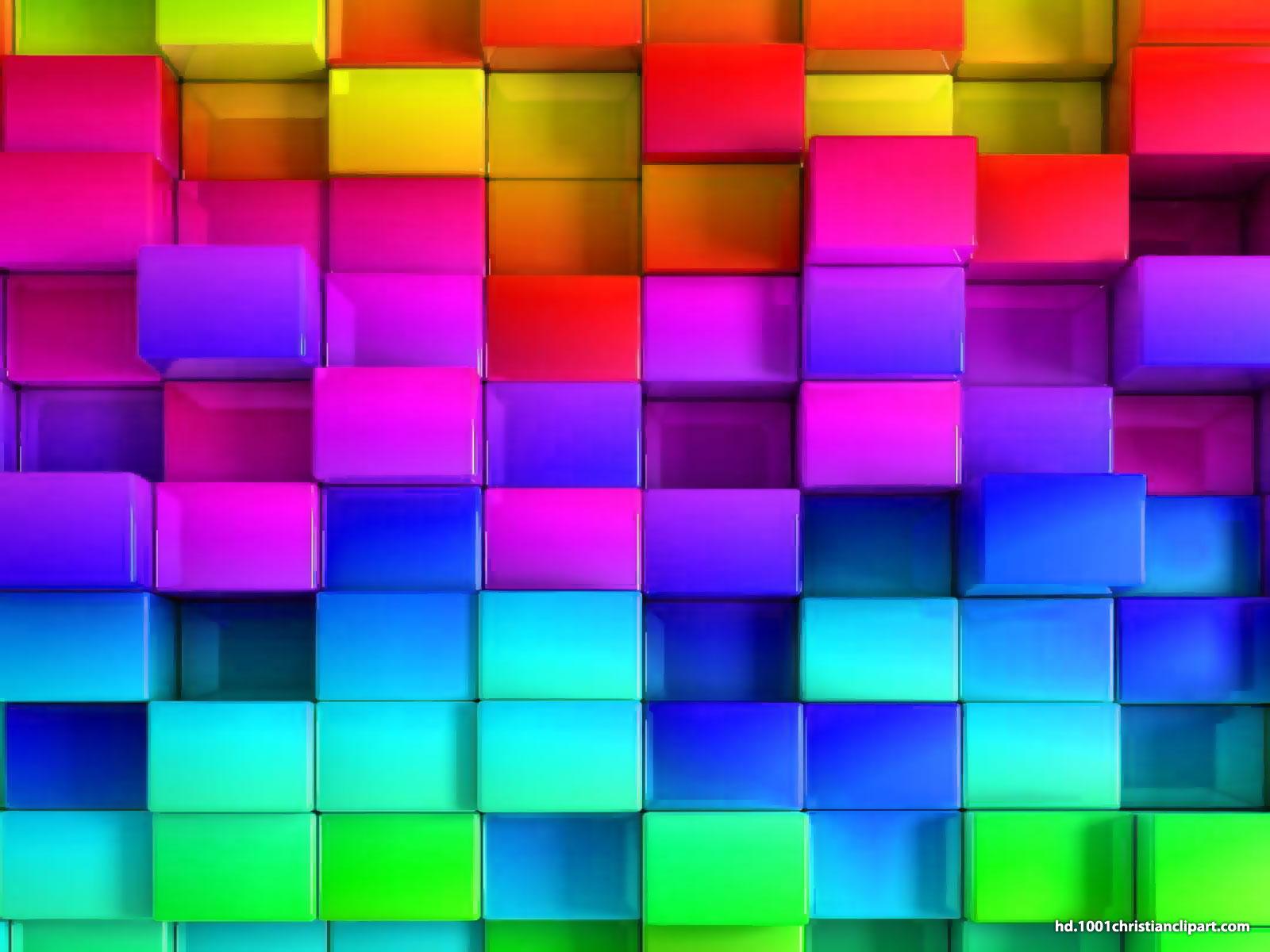 3D Rainbow Powerpoint Template