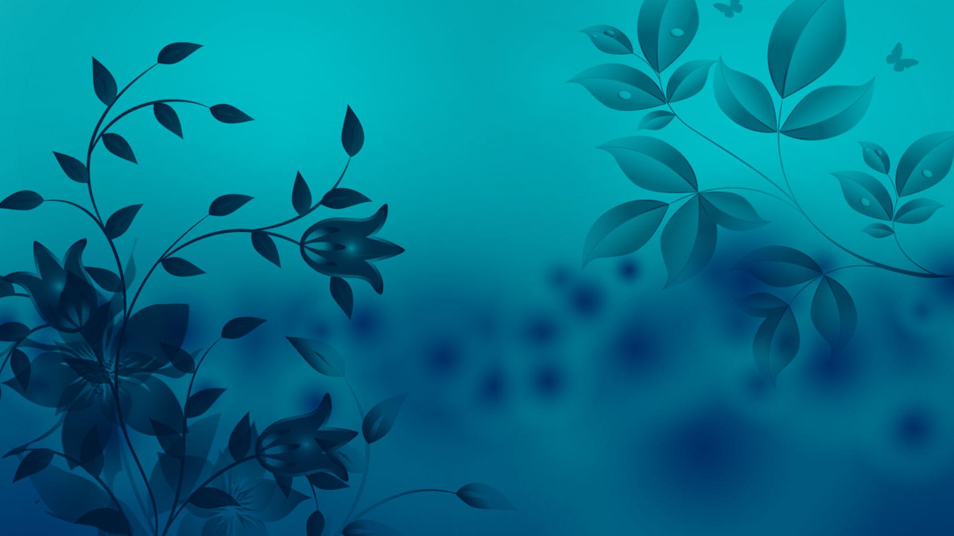 Mistique Blue Flower Background